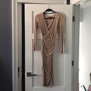 Bebe xs faux wrap dress